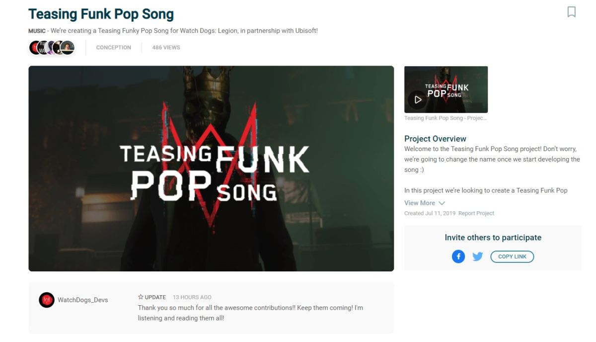 Watch Dogs Legion Partners With Hitrecord To Commission New Songs From Fans Pc Gamer