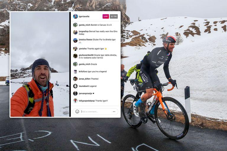 Passo Giau at the 2021 Giro d'Italia