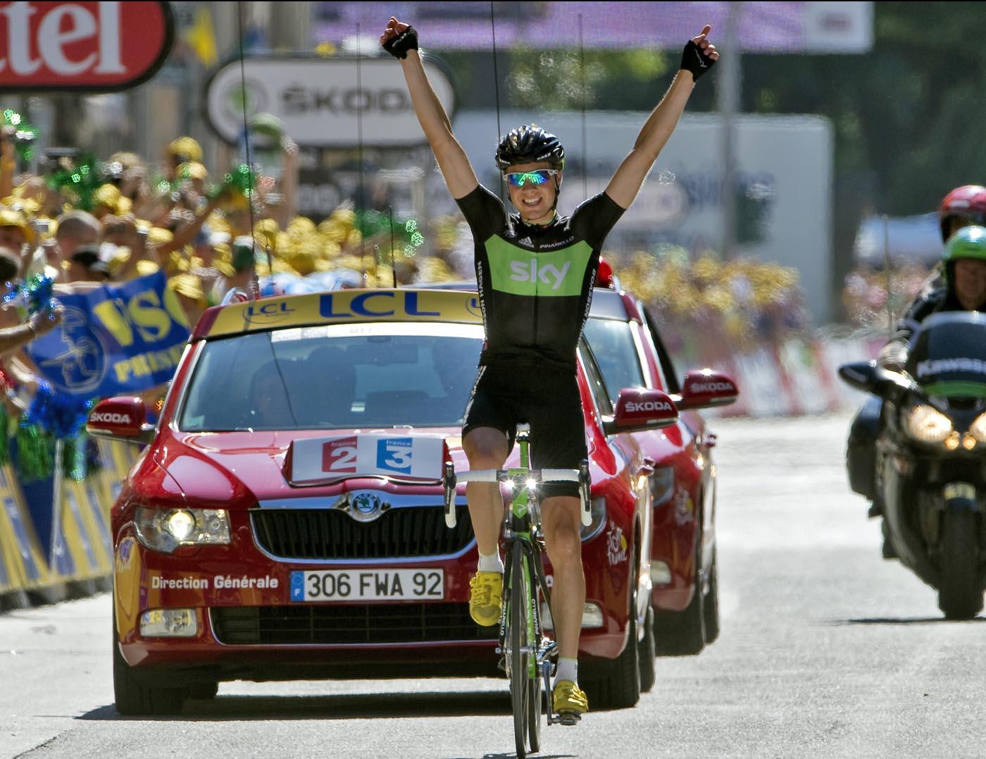 Edvald Boasson Hagen wins, Tour de France 2011 stage 17