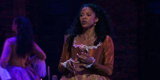 Angelica (Renee Elise Goldsberry) sings in Disney+'s Hamilton