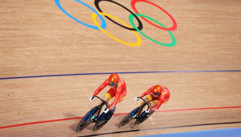 China in the team sprint at the Tokyo Olympics