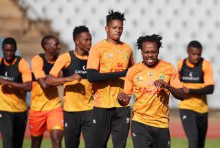 Bafana Bafana warming up