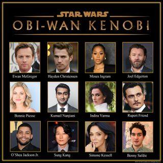 The cast of the Obi-Wan Kenobi series, including Ewan McGregor, Hayden Christensen, Moses Ingram, Joel Edgerton, Bonnie Piesse, Kumail Nanjiani, Idira Varma, Rupert Friend, O'Shea Jackson Jr., Sung Kang, Simone Kessell and Benny Safdie