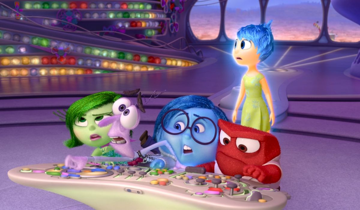 Inside Out emotions at the control panel