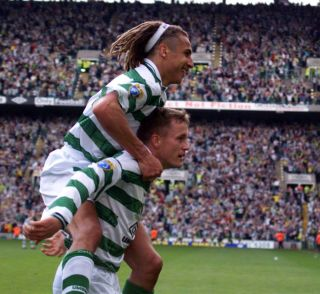 Celtic/St Johnstone Larsson/Brattback