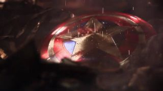 A still from 'The Avengers Project' teaser, showing Captain America's shield.