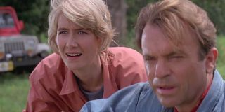 Ellie and Alan in Jurassic Park
