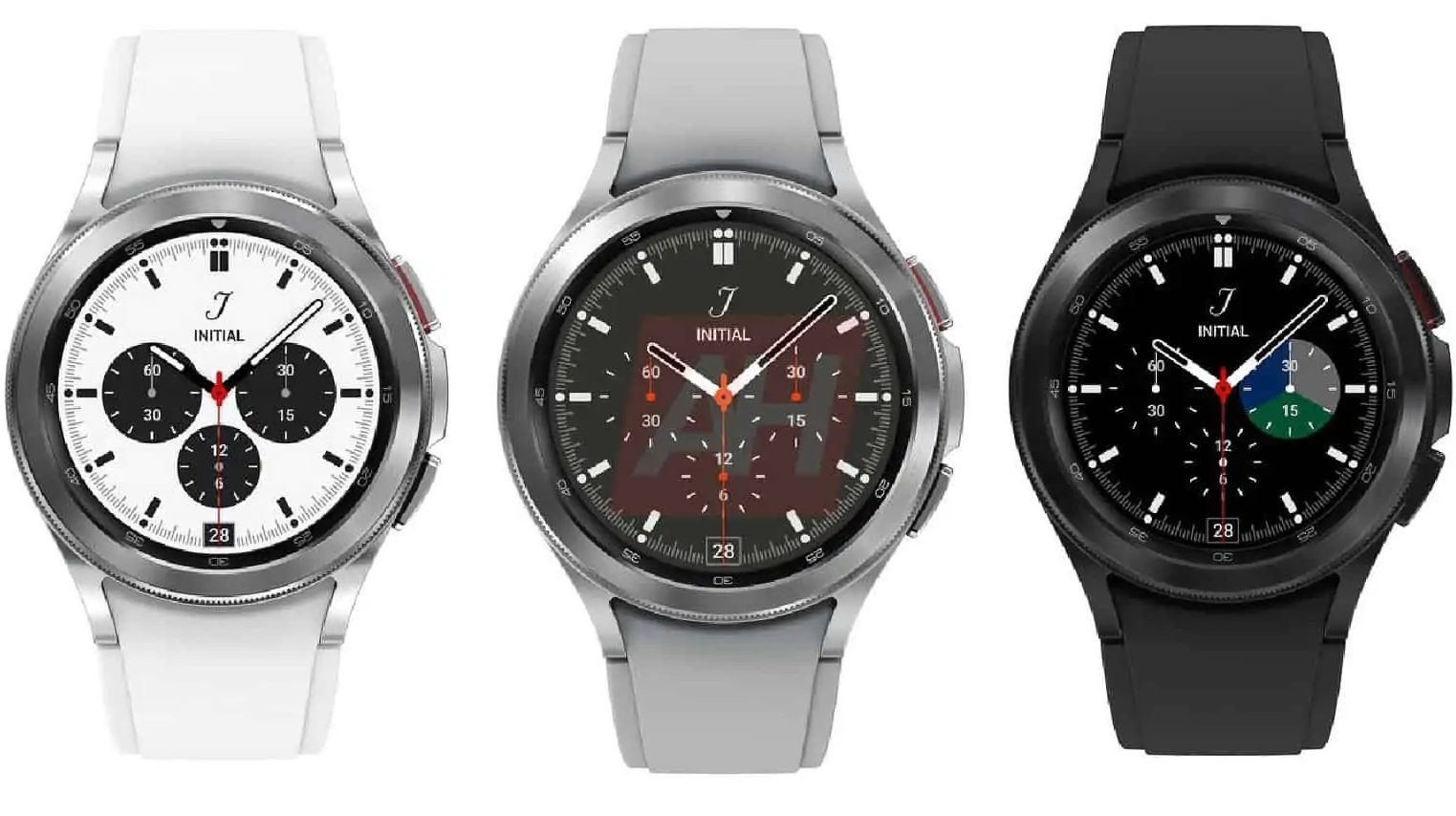 Leaked Samsung Galaxy Watch 4 Classic renders showing it in white, grey and black shades