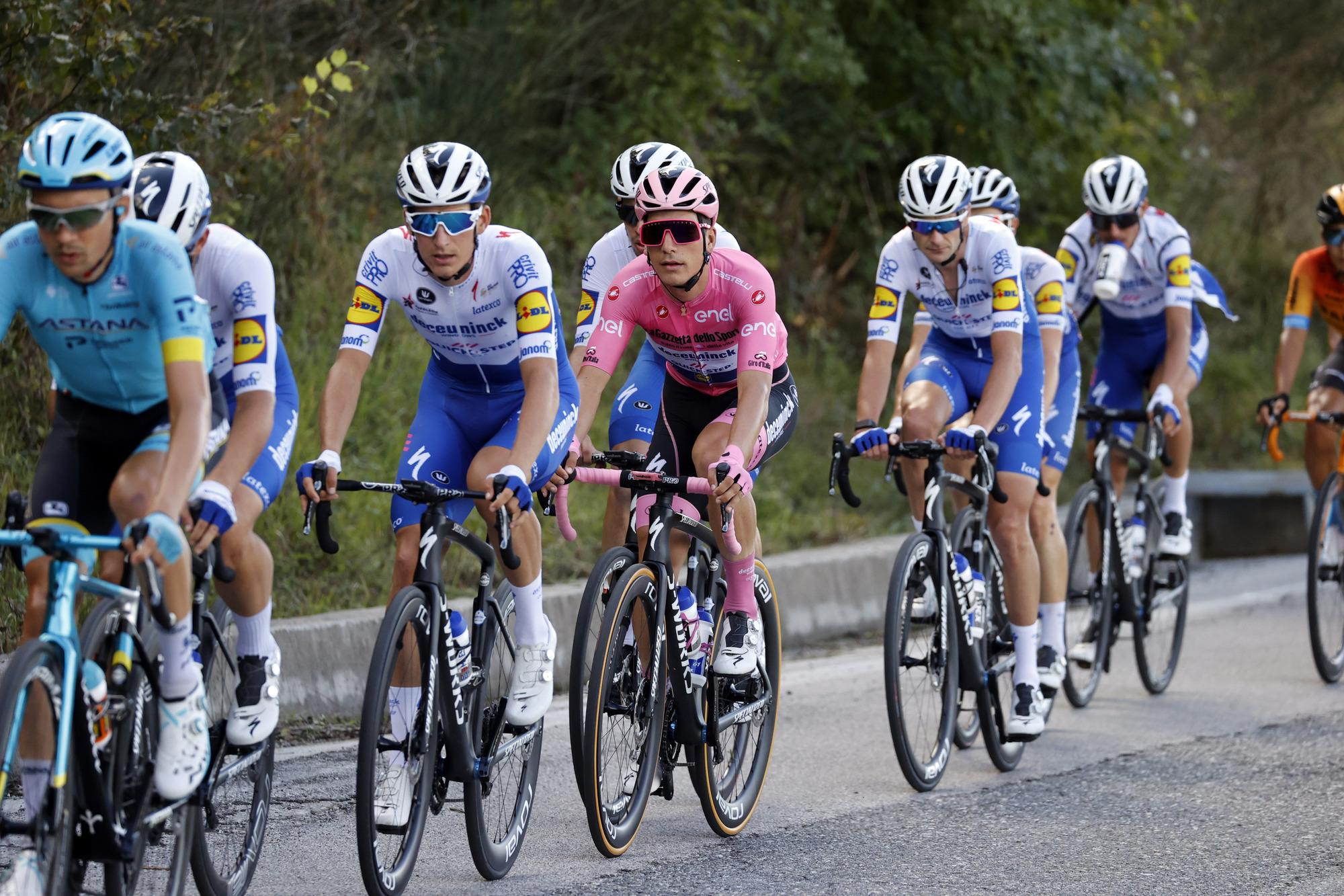 Giro d'Italia 2020 - 103th Edition - 6th stage Castrovillari - Matera 188km - 08/10/2020 - Joao Almeida (POR - Deceuninck - Quick Step) - photo Luca Bettini/BettiniPhoto©2020
