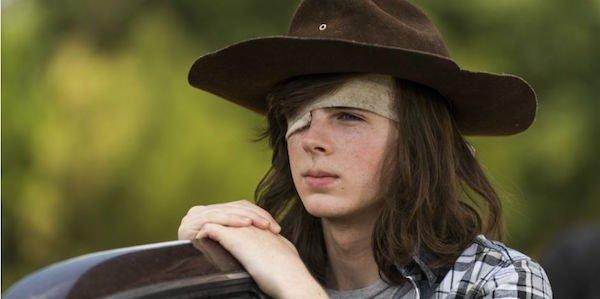 Carl in Season 7 of The Walking Dead