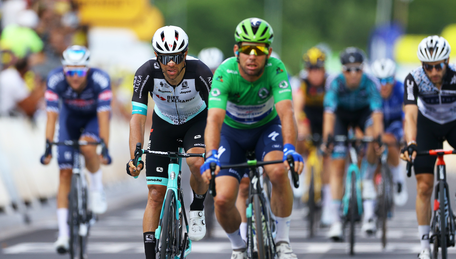 Mark Cavendish at the finish of stage 12 of the 2021 Tour