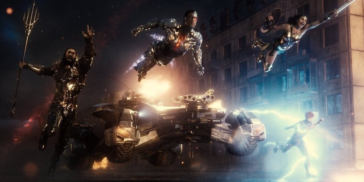 The Justice League storms the frame in Justice League.