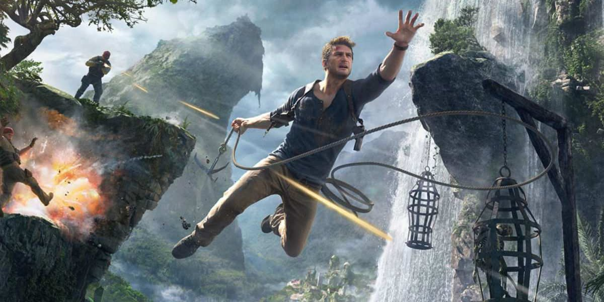 Uncharted 4 Nathan Drake leaping