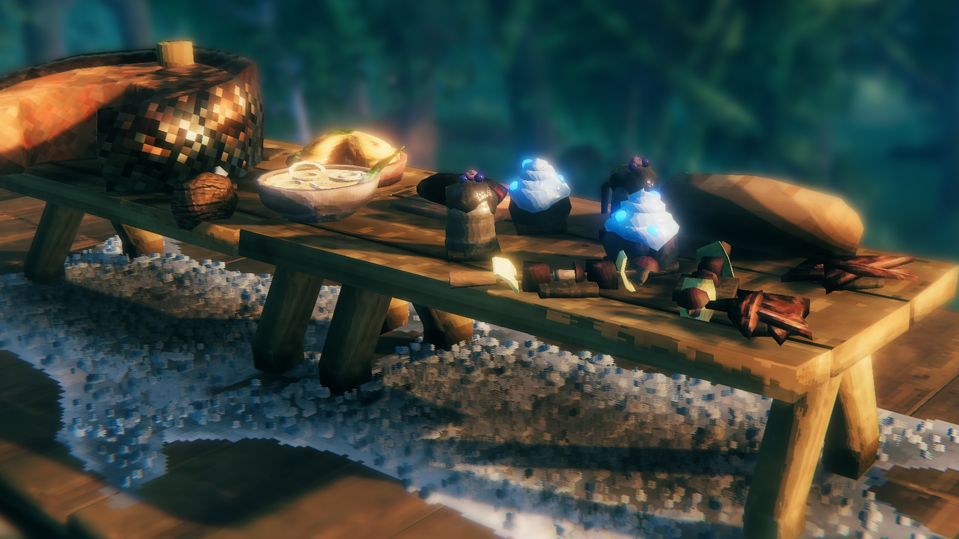 Valheim Hearth and Home update - a table full of new food items