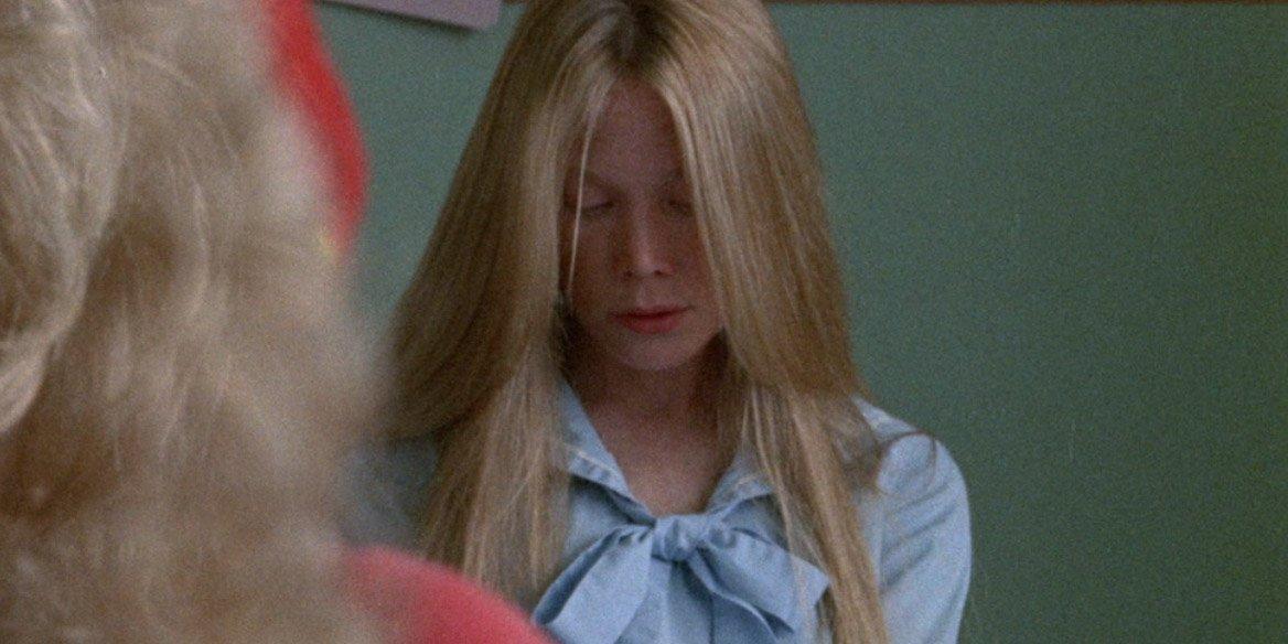 Sissy Spacek as Carrie White in class in Carrie