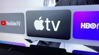 Apple TV logo on an Apple TV 4K
