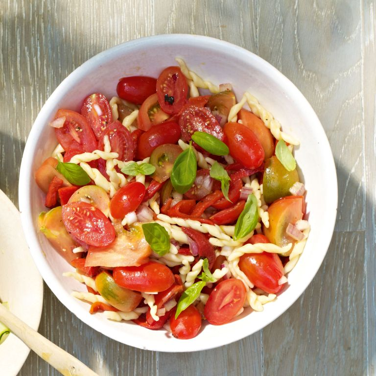 Tofie Salad With Tomatoes And Peppers
