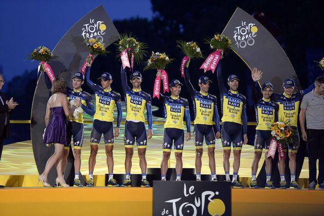 Saxo-Tinkoff team award, Tour de France 2013, stage 21