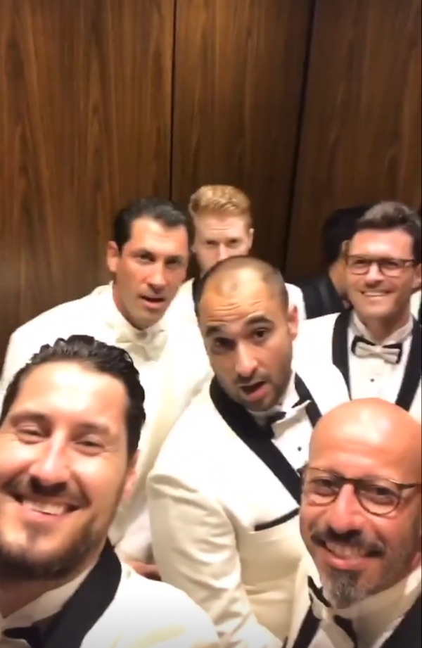 Maksim Chmerkovskiy wedding with groomsmen via Val Chmerkovskiy