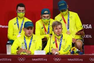 Australia took bronze in the team pursuit at the Tokyo Olympics