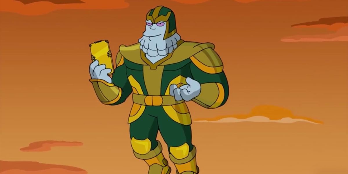 Chinos On The Simpsons' Avengers: Endgame episode with Anthony and Joe Russo
