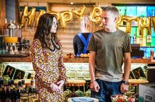 Bobby Beale celebrates his birthday with Dana Monroe in EastEnders