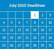 Education Grants: 2010–2011 Deadlines