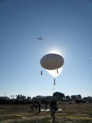 NASA DISCOVER-AQ plane and balloon