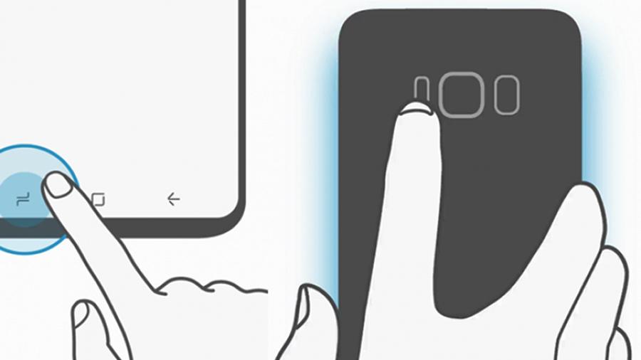 Grande mudança: Samsung Galaxy S8 botões na tela vazada