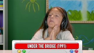 A still from the Kids React To Red Hot Chili Peppers video