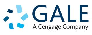 Blue and white Gale logo