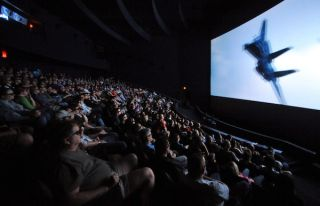 Air Force Museum Theatre Flies in 3D with Severtson Screens