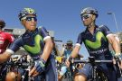 Nairo Quintana and Alejandro Valverde at the 2016 Tour de France (Sunada)