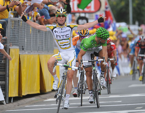 Mark Cavendish wins, Tour de France 2009, stage 10