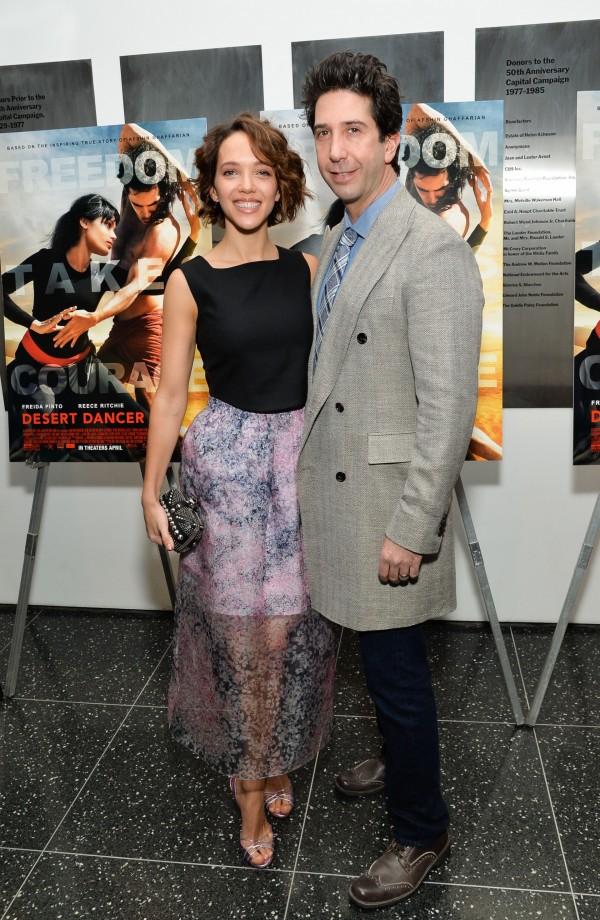 David with his British wife Zoe Buckman (Evan Agostini/AP/PA)