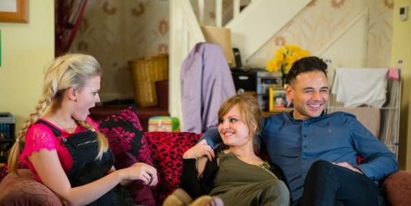 Coronation Street Bethany Platt, Sarah-Louise Platt and Jason Grimshaw