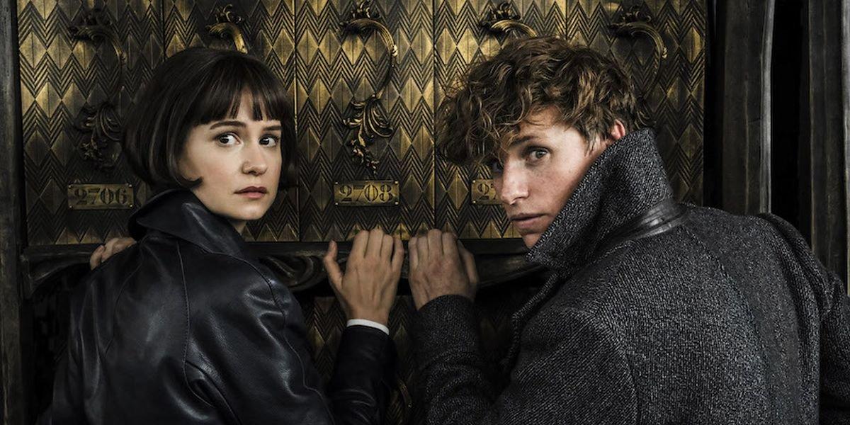 Eddie Redmayne and Katherine Waterston in Fantastic Beasts: The Crimes of Grindelwald