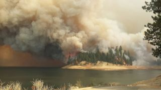 The King Fire in the Eldorado and Tahoe National Forests