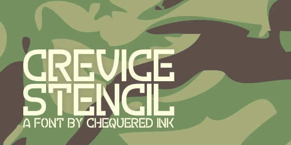 Free graffiti fonts: Crevice Stencil