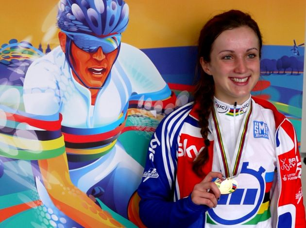 Elinor Barker wins junior women's time trial, Road World Champs 2012
