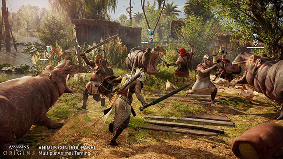 assassins creed origins ps4 gameplay
