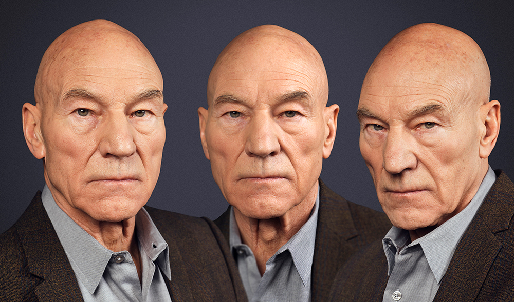 Sir Patrick Stewart photographed as classic van Dyck painting