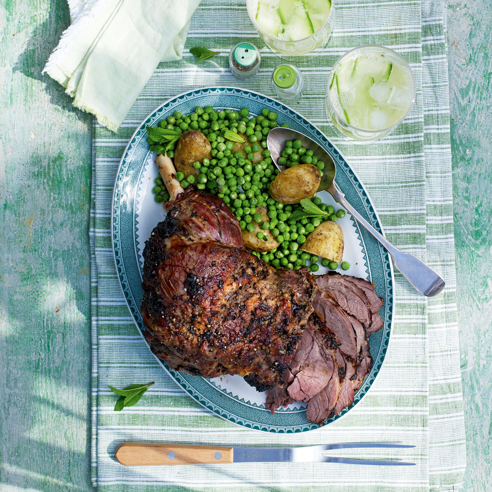 Roast Carvery Leg of Lamb with Miso and Ginger Recipe