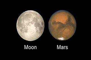 Moon and Mars Hoax Image