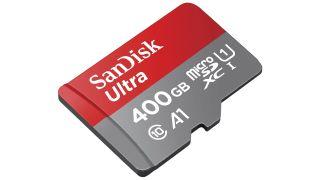 A SanDisk brand 400GB microSD card