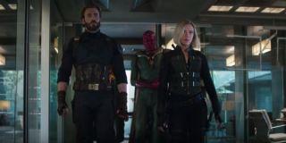Avengers Infinity War Steve Rogers Black Widow Vision