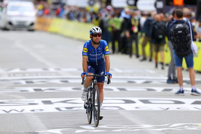 Mark Cavendish at the 2021 Tour de France stage three