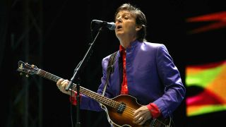 Paul McCartney at Glastonbury in 2004