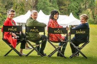 The judges in directors chairs with their names on the back