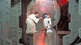 """Leia and R2-D2 in the first """"Star Wars"""" film, """"A New Hope."""""""